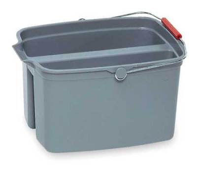 Brute Split Bucket,4-1/4 gal.,Gray RUBBERMAID FG261700GRAY