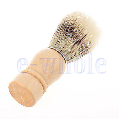 Professional Barber Salon Shave Shaving Razor Brush Wood Handle Tool LAD