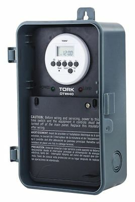 Electronic Water Heater Timer,24 hr,DPDT TORK DTWH40
