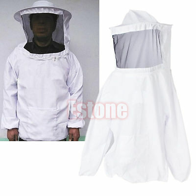 Bee Keeping Veil Suit  Jacket Hat Pull Over Smock Protective Equipment HOT