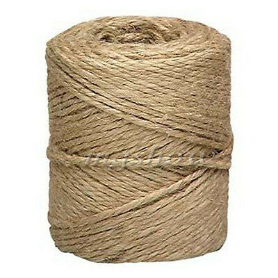 UK 50M-500M Metre Natural Brown Shaby Style Rustic String Twine Shank Craft Jute