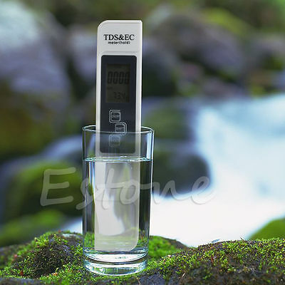 Digital LCD TDS EC Water Quality Meter 3 In 1 Tester Filter Purity Pen Stick PPM