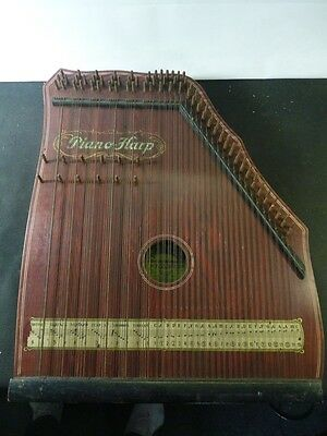 "Akkord Zither, "" Piano Harp, Made in Germany , Saxony "" 55 x 44 c m"