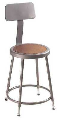 NATIONAL PUBLIC SEATING 6224HB Stool, Backrest, Adjstble, Gray, 25 to 33 In