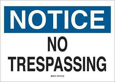 BRADY 22164 Notice Sign, 10 x 14In, BL and BK/WHT, ENG