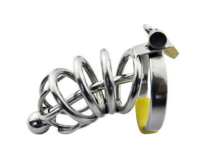Male Stainless Steel Chastity Device Cage Locking A008