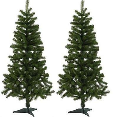 New Pair of Homebase Green Spruce Artificial Christmas Xmas Tree 5ft 152cm