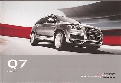 2012 12 Audi  Q7 original sales  brochure  MINT
