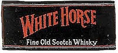 White Horse Whisky Cotton Bar Towel  (pp)