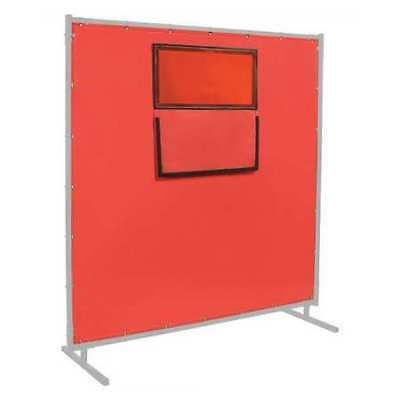 STEINER 384-338F-6X8 Welding Curtain,8 ft. W,6 ft.,Red