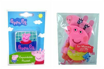 Peppa Pig Young Kids Wash Mitts / Flannel choose type