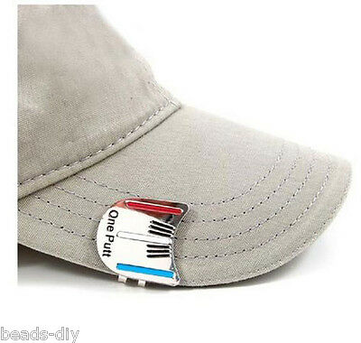 BD NEW One Putt Golf Putting Alignment Aim Tool Ball Marker with Hat Clip