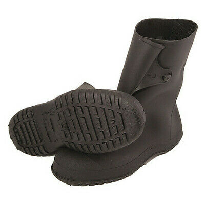 TINGLEY 35121 Overboots, Mens, M, Button Tab, Blk, PVC, 1PR
