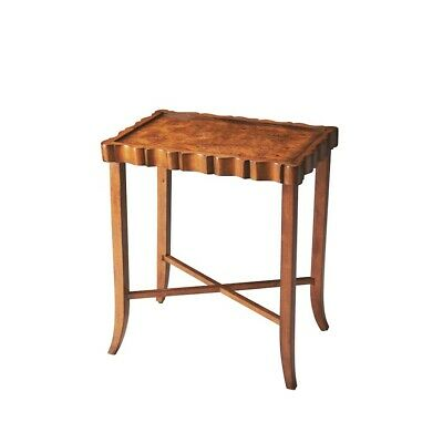 Butler Devon Olive Ash Burl Tea Table, Olive Ash Burl - 5016101