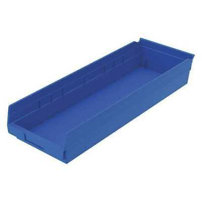 "Blue Shelf Bin, 23-5/8""L x 8-3/8""W x 4""H AKRO-MILS 30184BLUE"