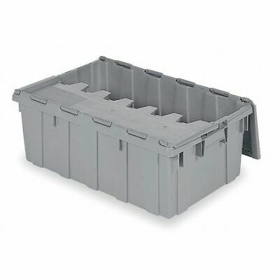 BUCKHORN 39160 Attached Lid Container, 2.25 cu. ft., Gray