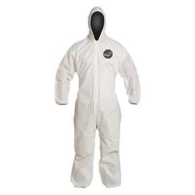 DUPONT PB127SWH2X002500 Hooded Disp. Coverall,White,2XL,PK 25