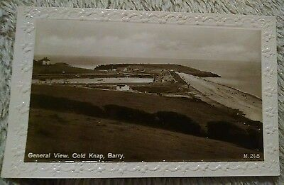 BARRY , general view COLD KNAP  vintage postcard real photo RP wales