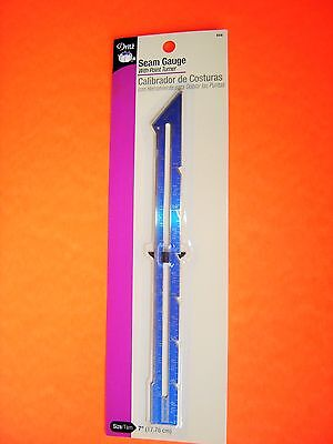 Dritz Sewing / Quilting Hem Gauge 7 inches long - with a Point Turner - # 658