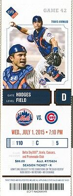 2015 Mets vs Cubs Ticket: Starlin Castro legged out run-scoring infield hit 11th