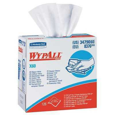 "Wypall Disposable Wipes, 9-1/10"" x 16-4/5"", 126 Sheets/ Pack, 34790"
