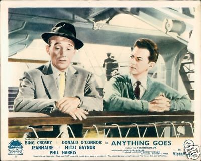 Bing Crosby Anything Goes Donald O'connor 1956 Lobby