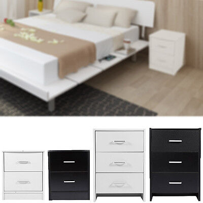 Bedroom Cabinet Small Nightstand 2/3 Drawers Bedside Table Cupboard Storage UK