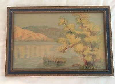 Vintage Watercolor Painting Signed Calista Knight McMahon ~ Grace Hudson ~ CA