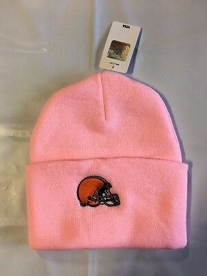 9644a6a8ff14ef Cleveland Browns Womens Knit Beanie Toque Winter Hat Skull Cap - Cuffed Pink