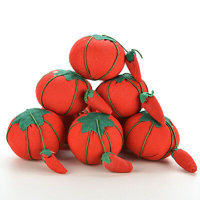 Tomato Needle Pin Cushion Soft Material Tomato Shape Safety Storage for Pin