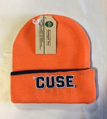 a607093623e Syracuse Orange Knit Beanie Toque Winter Hat skull cap NEW NCAA Cuffed  Orange