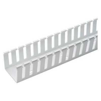 PANDUIT G1X4WH6 Wire Duct,Wide Slot,White,1.26 W x 4 D