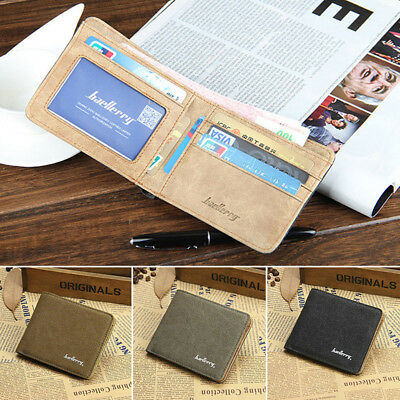 Men's Canvas Leather Bifold Wallet Coin Purse Card Holder Father's Day gift