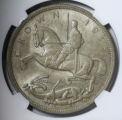 1935 UK Great Britain Crown KM# 842 Silver NGC MS63 George V