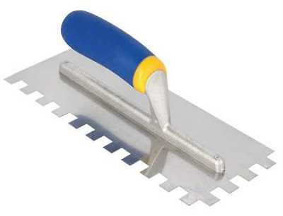 QEP 49919Q Notched Trowel,4-1/2 x 11 In,SS,Square