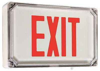 Exit Sign with Battery Backup, Hubbell Lighting - Dual-Lite, SEWLSRWE-4X