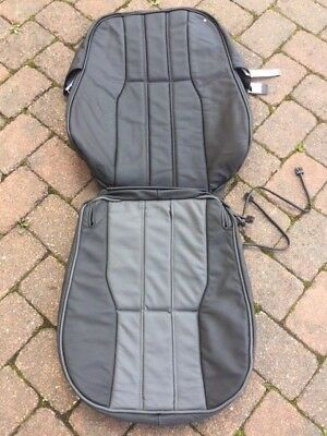 Range rover L322 front seat back cover jet & jet piping oxford leather