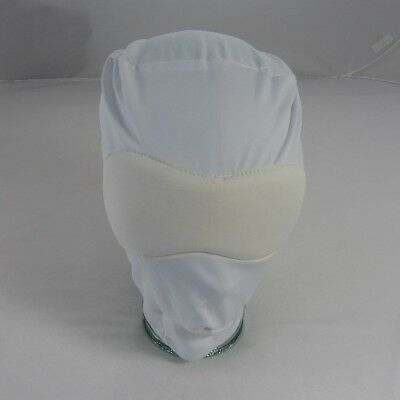 Spandex White hood with blackout blindfold,(HO-120-White) FREE UK DELIVERY