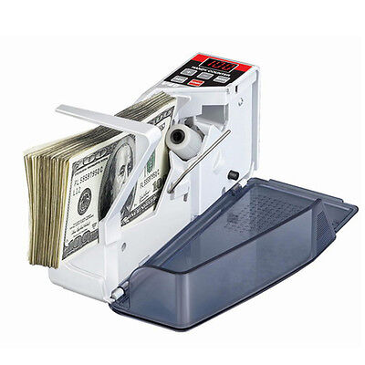 Portable Mini Handy Bill Cash Money Currency Counter Counting Machine US Plug LS