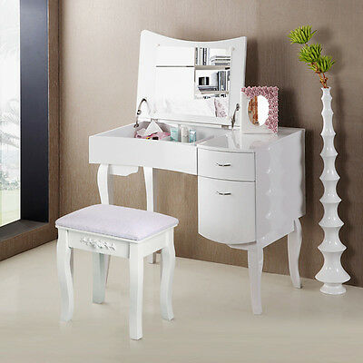 Morden European Dressing Table Chair Vintage Decor Padded Piano Makeup Stool