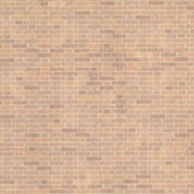 Dolls House Old Red Brick Paper Miniature Print 1:24 Scale Exterior Wallpaper