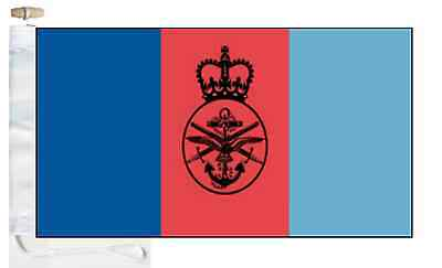 British Armed Forces Joint Service Courtesy Boat Flag Roped & Toggled