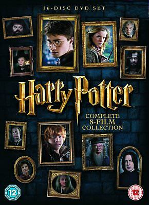 HARRY POTTER Complete 8 Film COLLECTION DVD NEW 16 Disc Set