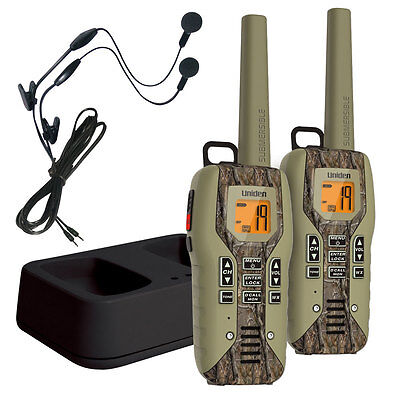 Uniden 50 Mile FRS/GMRS Submersible Two-Way Radio Direct Call Camo 2-pack