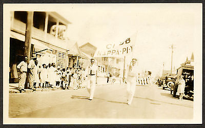C. 1928 Fraternal Organization Kappa with Banner Marching in Parade, Hawaii