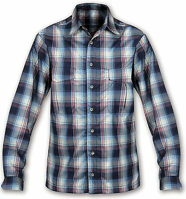 Paramo Men's Katmai Light Shirt Oxford Blue Check