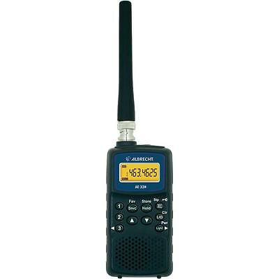 Albrecht AE-33H Compact 180 Channel VHF/UHF AM/FM/WFM Mode Handheld Scanner