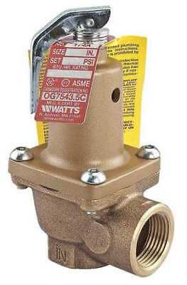 Safety Relief Valve,3/4 In,50 psi,Bronze WATTS 3/4 174A-050