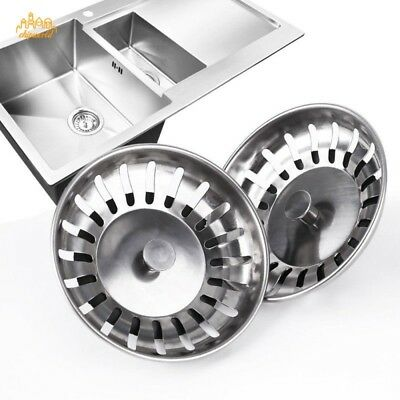 """3/"""" Sink Plug Stopper Kitchen Ware For Drain Rubber W// Stainless Steel Chain BN62"""