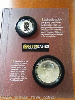 In Hand! 2015 P Coin & Chronicles Reverse Proof Harry Truman Dollar Set Ax1